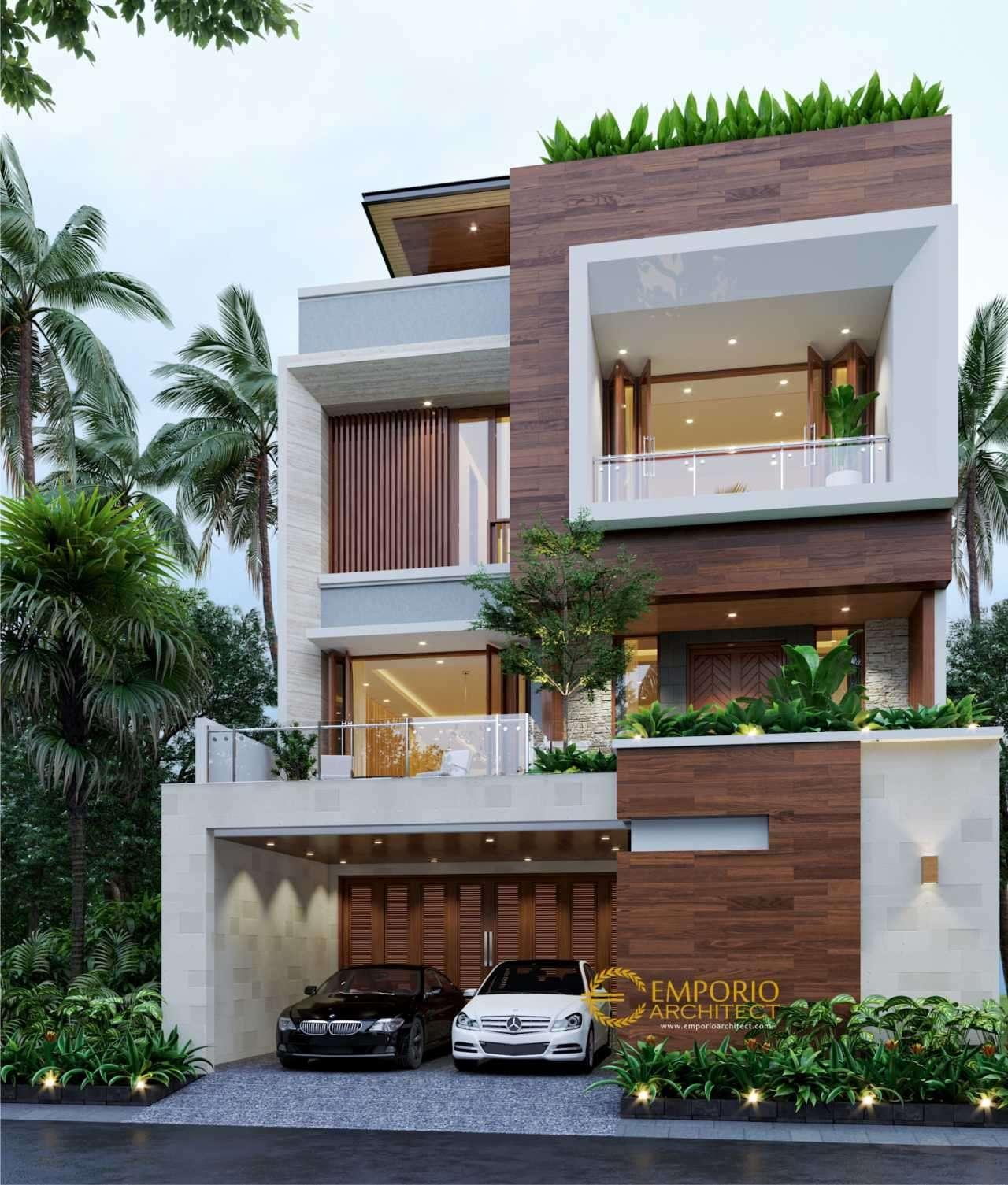 5 Desain Rumah Modern Tropis Terbaik dengan Lebar Lahan Kurang dari 10 Meter