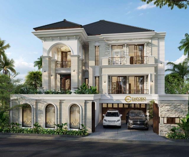 5 Desain Rumah Klasik 3 Lantai Terbaik karya Emporio Architect Tahun 2020