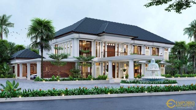 5 Model Desain Rumah Klasik 2 Lantai Terbaik dengan Lebar Lahan Lebih Dari 30 Meter
