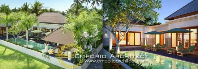 Desain Arsitektur dan Dekorasi Villa di Bali
