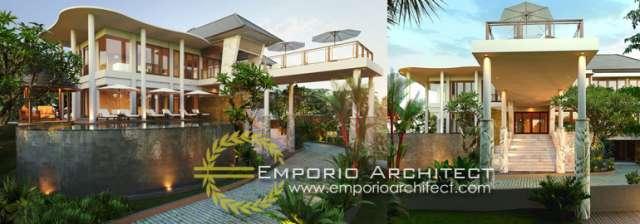 Desain Rumah Mewah Berkarakter Villa