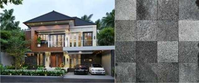 Material Batu Alam Yang Digunakan Emporio Architect  Pada Desain Rumah