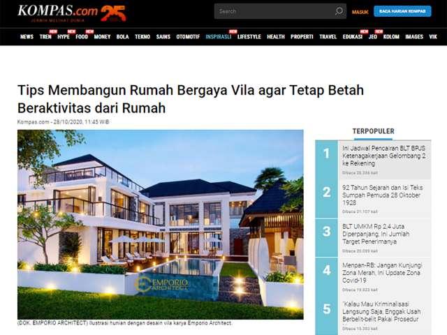Ulasan Media KOMPAS.com - Tips Membangun Rumah Bergaya Vila agar Tetap Betah Beraktivitas dari Rumah