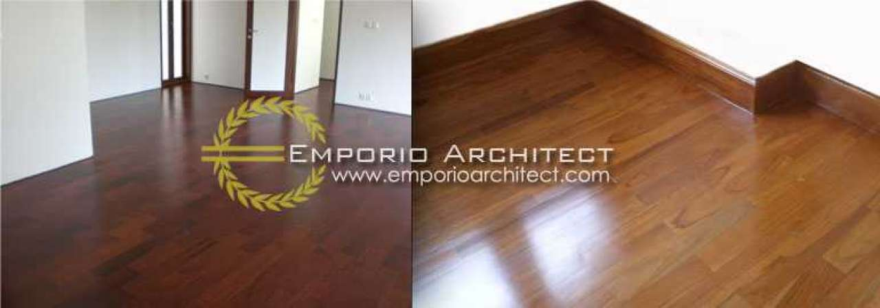 Memasang  Lantai Kayu pada Desain Rumah Tropis