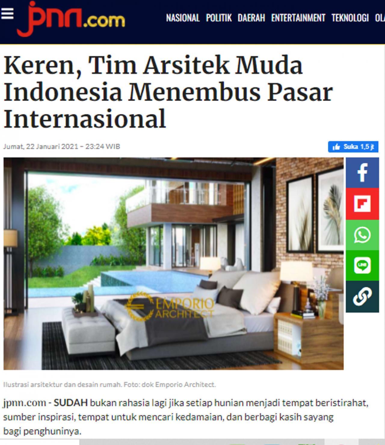 Ulasan Media jpnn.com - Keren, Tim Arsitek Muda Indonesia Menembus Pasar Internasional