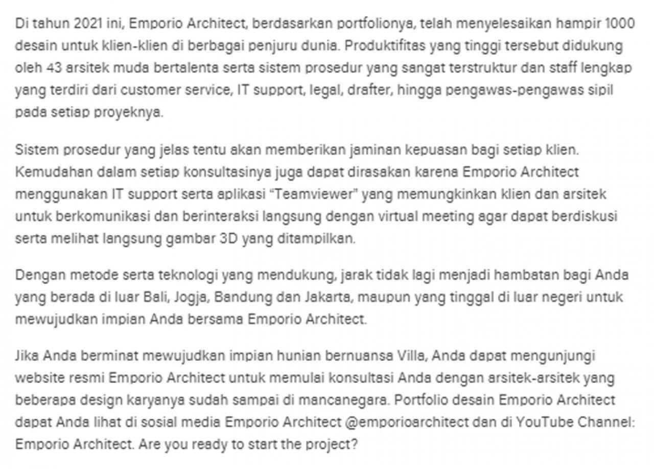 Ulasan Media LIPUTAN6.com - Arsitek Lokal Emporio Architect Berhasil Tembus Pasar Internasional 3 3