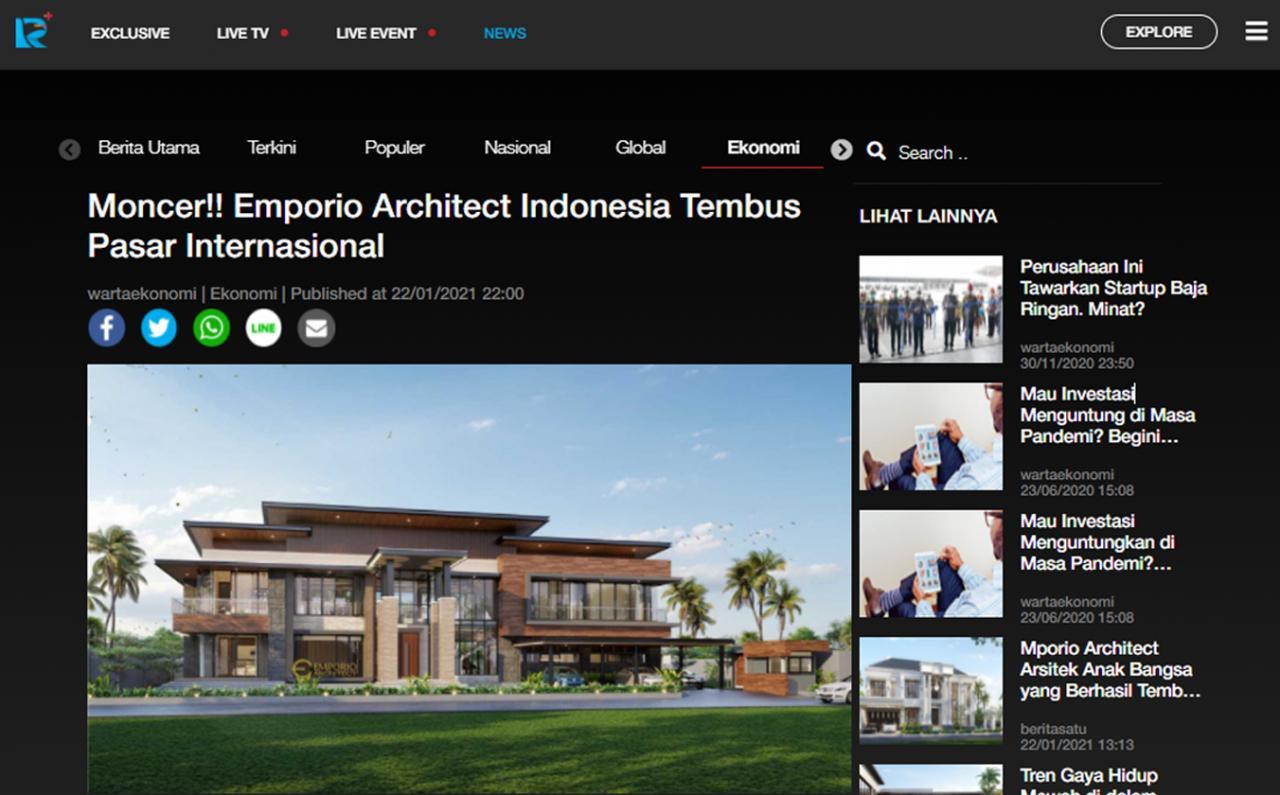 Ulasan Media rctiplus.com - Moncer!! Emporio Architect Indonesia Tembus Pasar Internasional