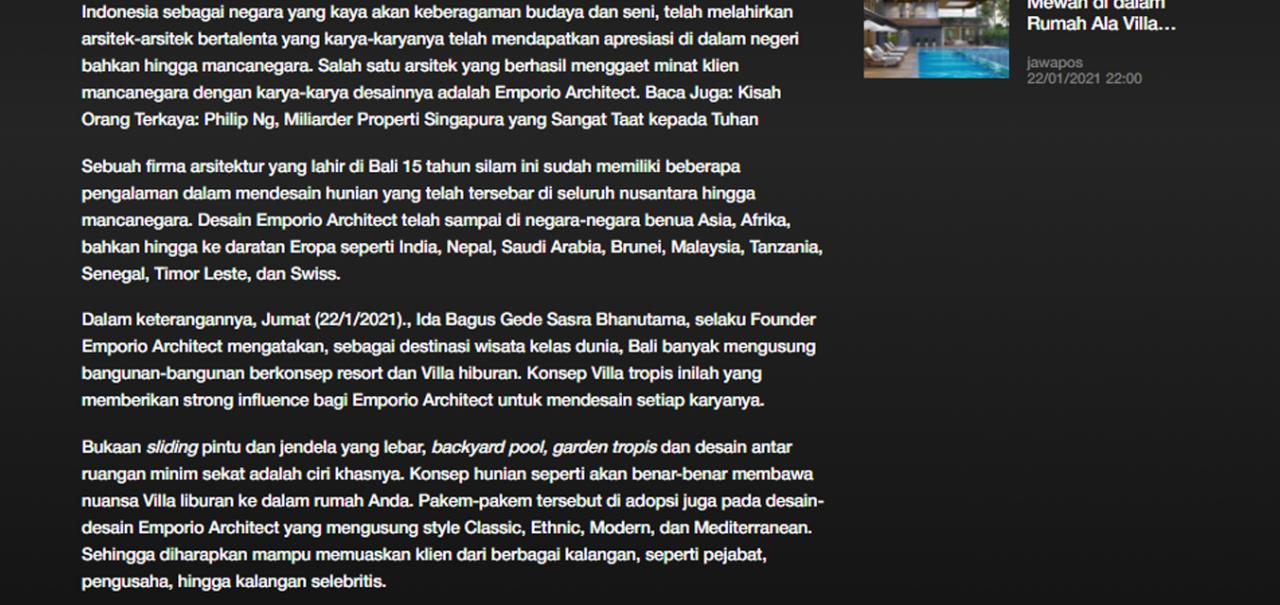 Ulasan Media rctiplus.com - Moncer!! Emporio Architect Indonesia Tembus Pasar Internasional 1 1
