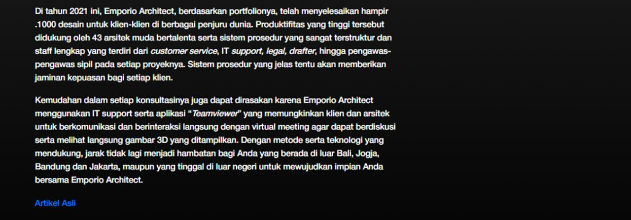 Ulasan Media rctiplus.com - Moncer!! Emporio Architect Indonesia Tembus Pasar Internasional 2 2