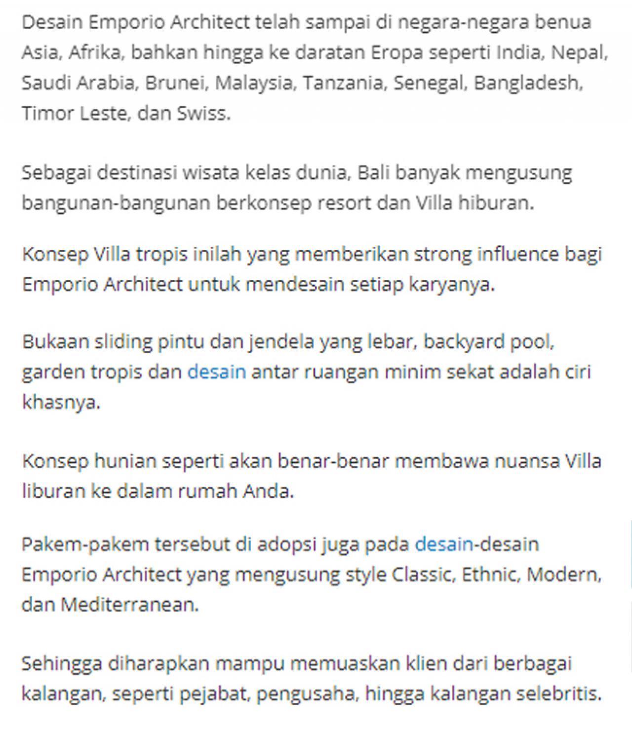 Ulasan Media TribunJakarta.com - Wujudkan Hunian Impian Bersama Emporio Architect, Karya Anak Bangsa yang Sukses Tembus Internasional 4 4