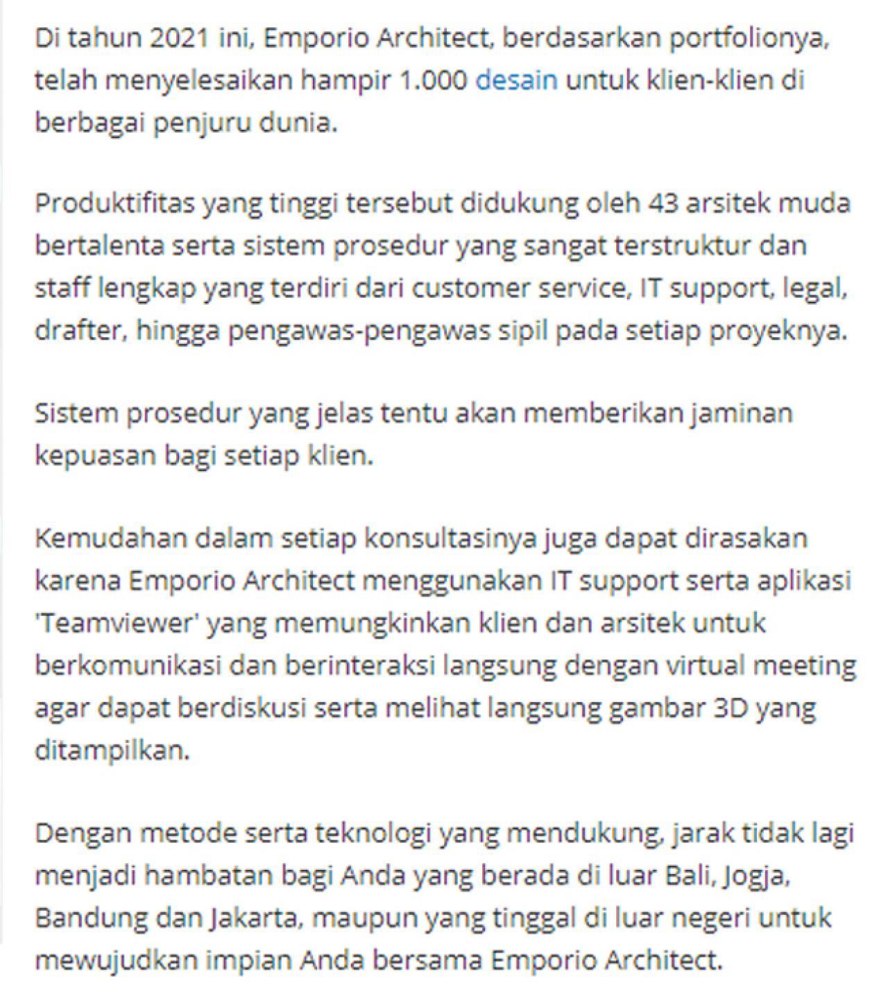 Ulasan Media TribunJakarta.com - Wujudkan Hunian Impian Bersama Emporio Architect, Karya Anak Bangsa yang Sukses Tembus Internasional 5 5