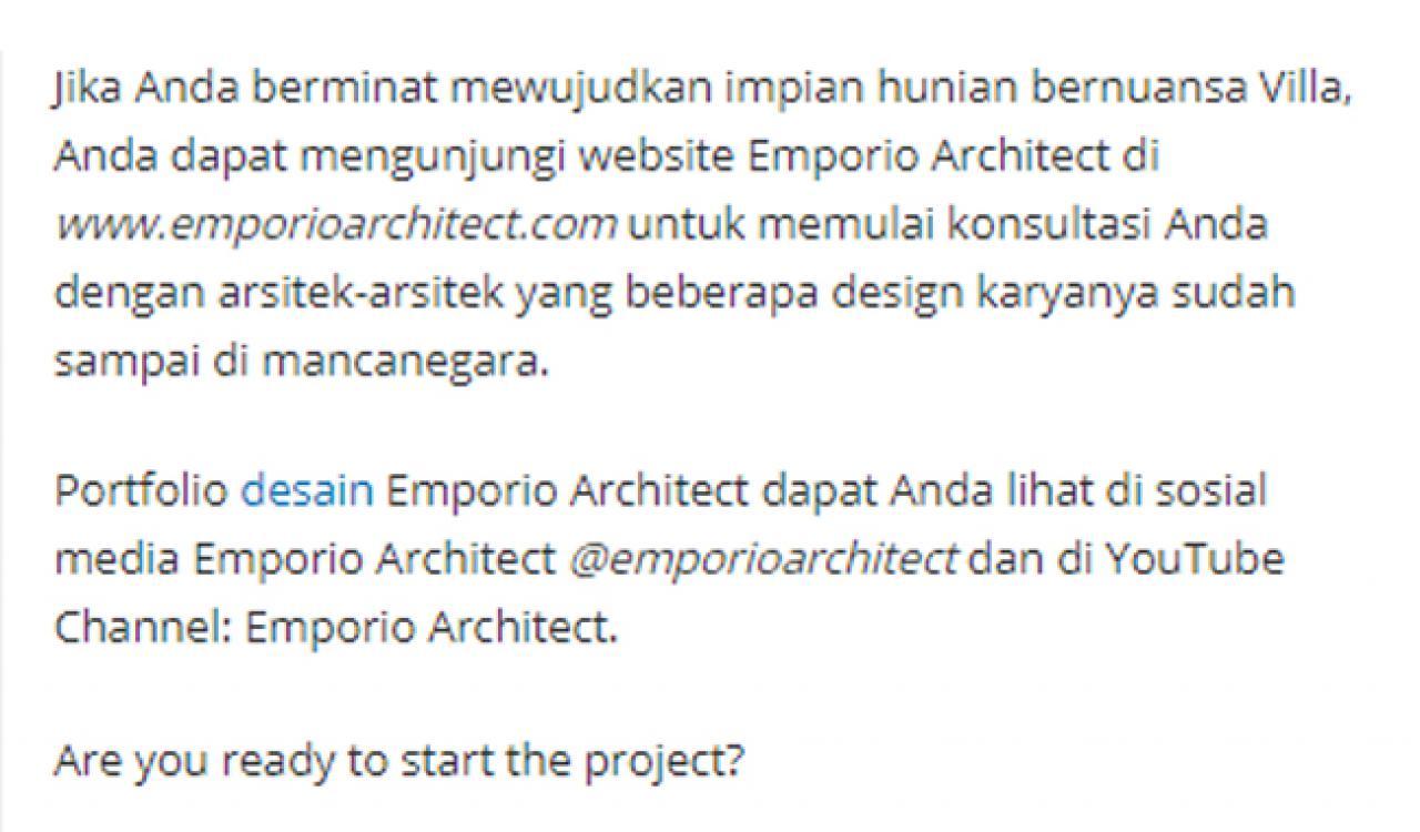 Ulasan Media TribunJakarta.com - Wujudkan Hunian Impian Bersama Emporio Architect, Karya Anak Bangsa yang Sukses Tembus Internasional 6 6