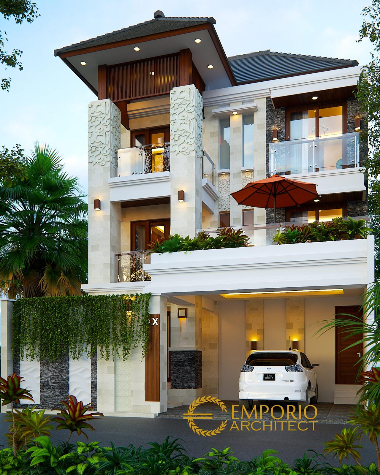 10 Desain Rumah 2 Dan 3 Lantai Terbaik Style Villa Bali ...