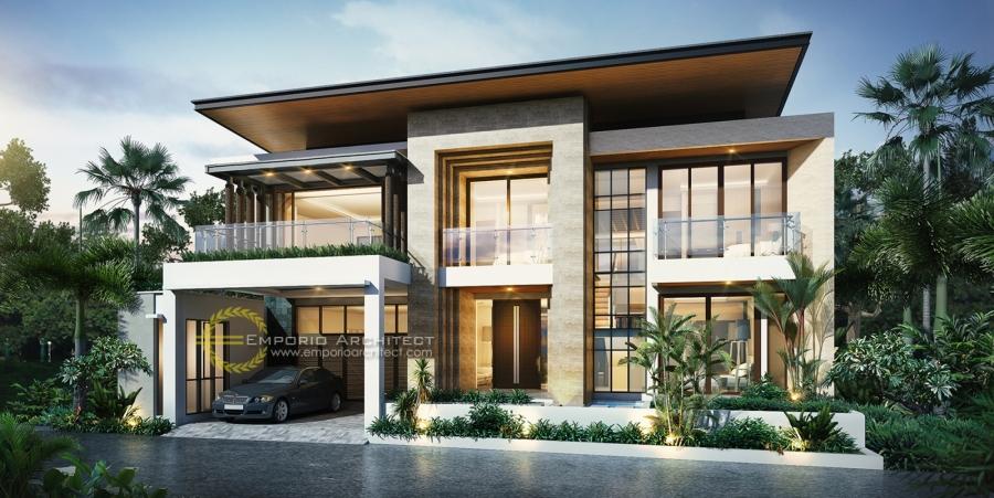 10 Desain Rumah Modern Tropis Terbaik