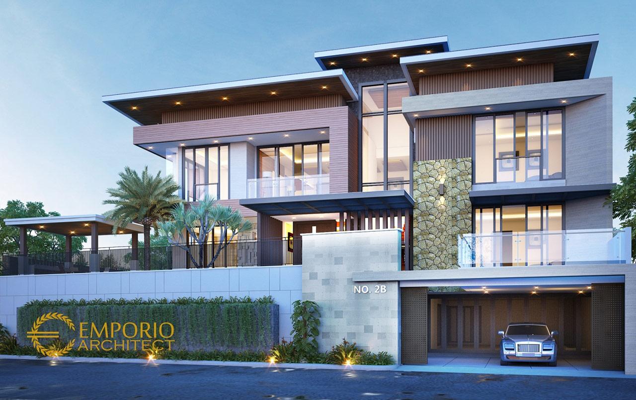 10 Desain Rumah Style Modern Tropis 3 Lantai Terbaik ...