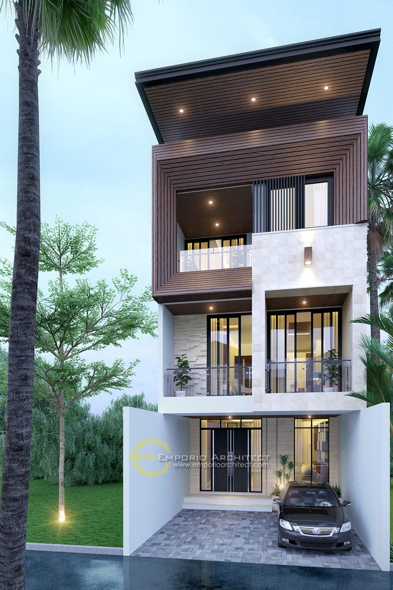 5 Desain Rumah Style Modern Tropis Terbaik Dengan Lebar ...