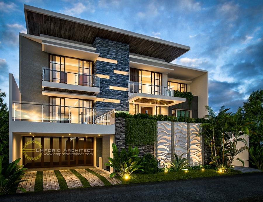 Desain Rumah dengan Atap Datar