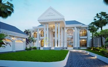 10 Desain Rumah Classic Tropis 2 Lantai Terbaik Pilihan Emporio Architect