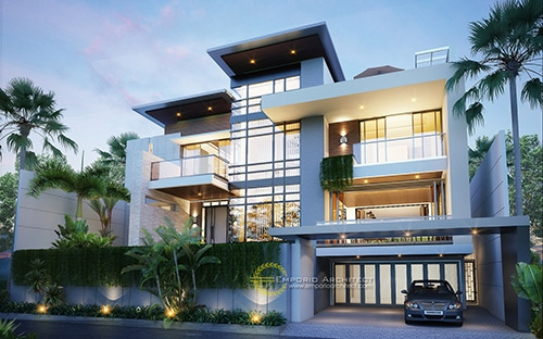 10 Desain Rumah Style Modern Tropis 3 Lantai Terbaik Pilihan Emporio Architect