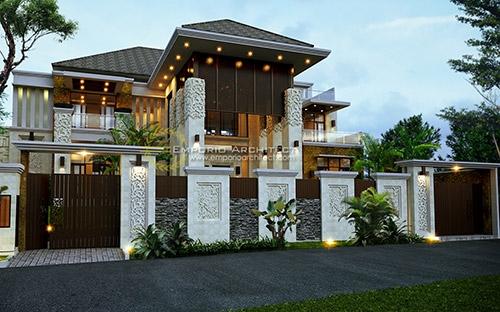 10 Desain Rumah Style Villa Bali Tropis Terbaik Pilihan Emporio Architect