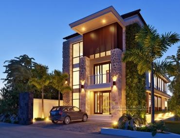 Desain Guest House Style Bali Modern