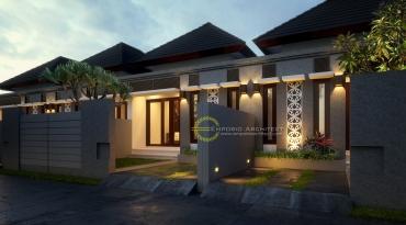 Desain Perumahan Bali Tropis 1 Lantai