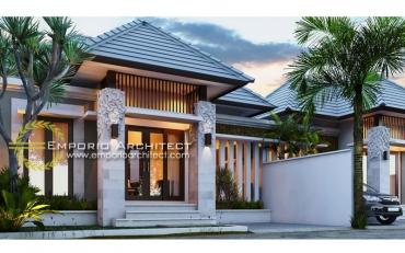 Desain Rumah 1 Lantai Style Villa Bali Tropis