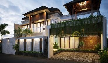 Desain Rumah Balinese Tropis di Jakarta