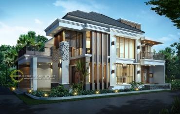 desain rumah mewah 1 dan 2 lantai style villa bali modern