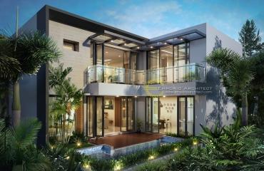 Desain Rumah Mewah dan Unik Style Modern Tropis di Jakarta