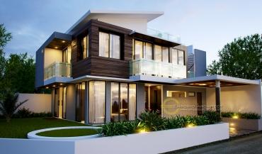 Desain Rumah Mewah dengan Atap Unik di Jakarta