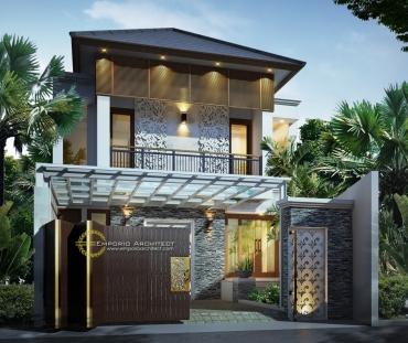 Desain Rumah Mewah dengan Carpot Unik di Jakarta