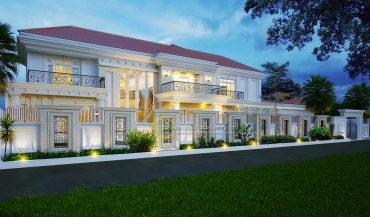 Desain Rumah Mewah dengan Style Klasik Tropis di Jakarta