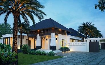 Desain Rumah Mewah Elegan Lantai 1 di Jakarta
