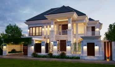 Desain Rumah Mewah Klasik Tropis di Jakarta