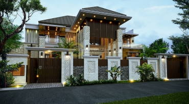 Desain Rumah Mewah Style Villa Bali Modern di Jakarta