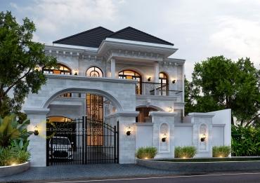 Desain Rumah Mewah Style Klasik dan Mediteran Tropis di Jakarta