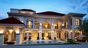 Desain Rumah Mewah Style Mediteran Tropis di Jakarta
