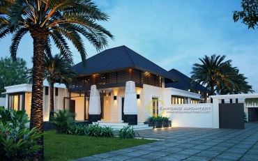 Desain Rumah Mewah Unik Style Villa di Jakarta