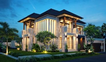 Desain Rumah Style Villa Bali Tropis yang Mewah dan Unik di Jakarta