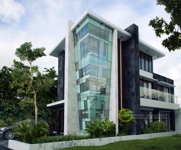 Desain Rumah Unik Style Modern Tropis Karya Emporio Architect