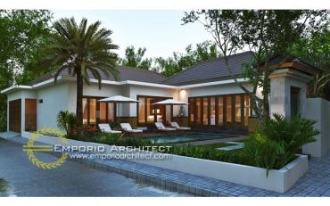Desain Villa 1 Lantai Bergaya Bali Tropis