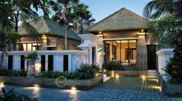 Desain Villa Mewah Style Bali Modern di Bali