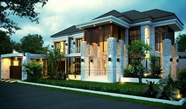 Jasa Arsitek Desain Rumah Mewah Style Villa Bali Tropis di Jakarta