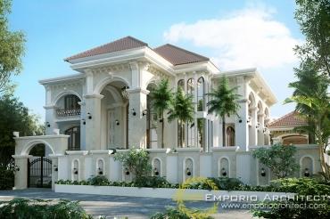 Beberapa Portofolio Desain Rumah Classic karya Jasa Arsitek Jakarta,