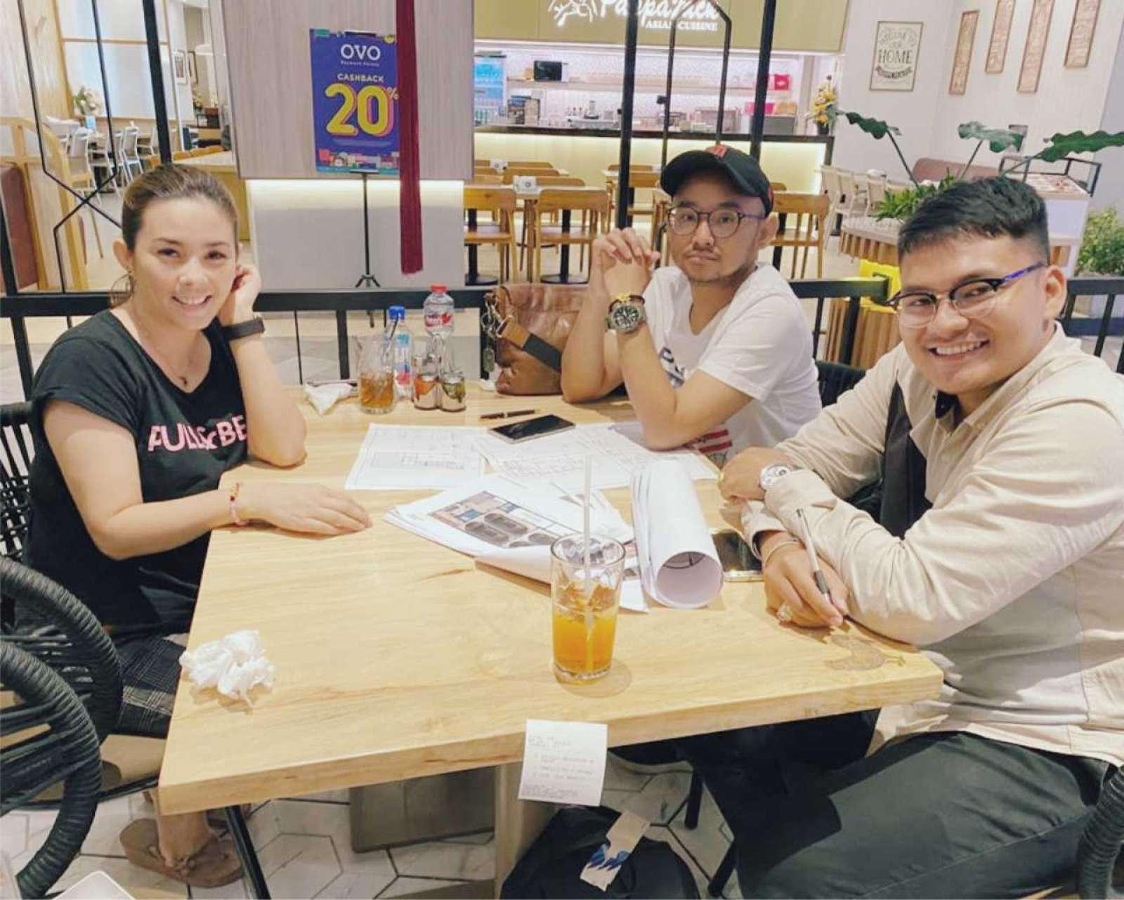 The results of a meeting with Mr Angga in Surabaya 1