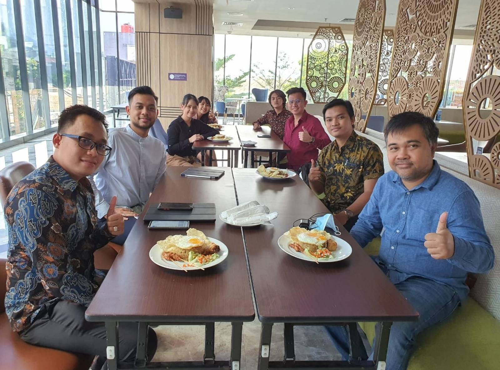 Owner Emporio Architect visit with Emporio Architect Bandung Team 1