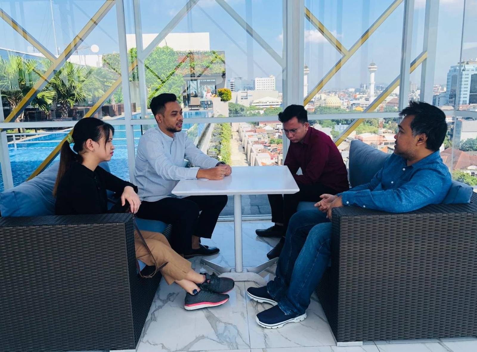 Owner Emporio Architect visit with Emporio Architect Bandung Team 5