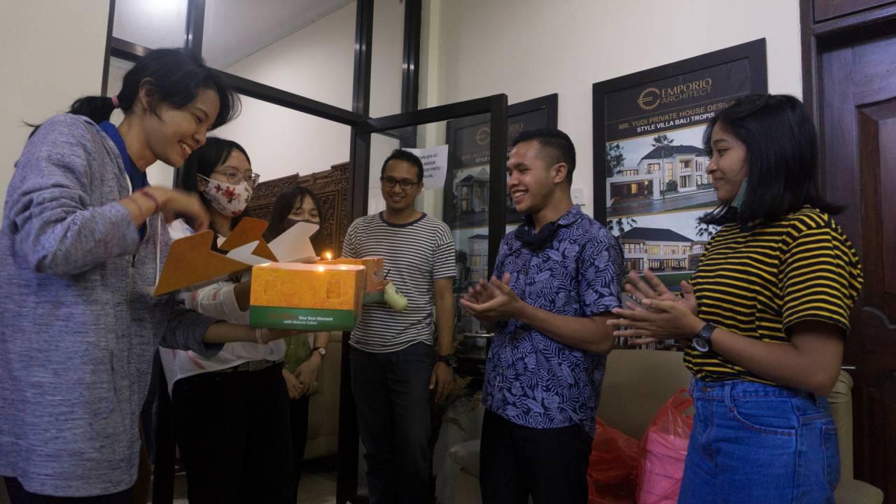 Birthday Celebration of Emporio Architect Bali's Team 3