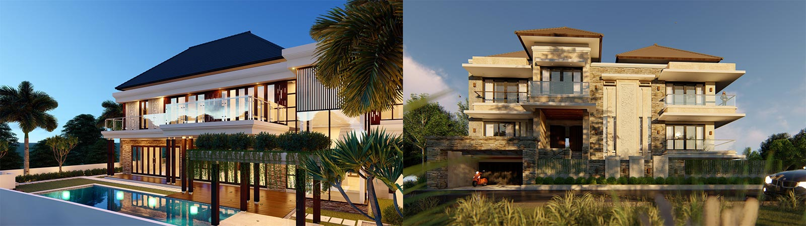 Jasa Arsitek Gambar Visual 3D Exterior